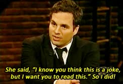 Watch and share Mark Ruffalo GIFs on Gfycat