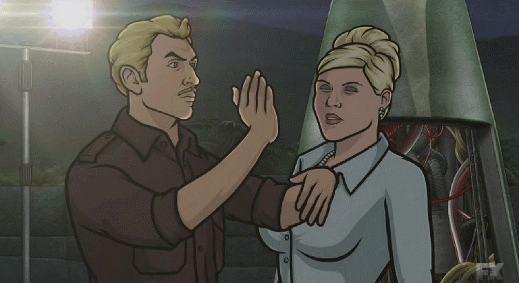 ArcherFX, archerfx, Looking for the gif of Ray Gillette slapping Pam from season 5 (reddit) GIFs