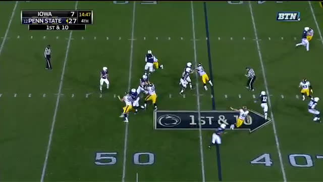 cfb, Derek Levarse - REPLAY: Come for the easy Barkley catch and run. Stay for the high-step. GIFs