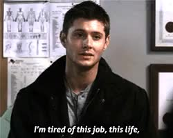 Watch Suck it up, Ackles! GIF on Gfycat. Discover more :(, Jensen Ackles, amy gumenick, deanw, jensenedit, maryw, mine, q, spn, spnedit GIFs on Gfycat