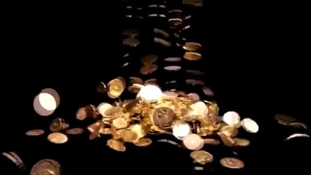 Watch and share Stock Footage Gold Coins Fall GIFs on Gfycat