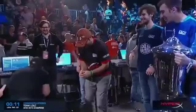 Hyped Champagne Guy