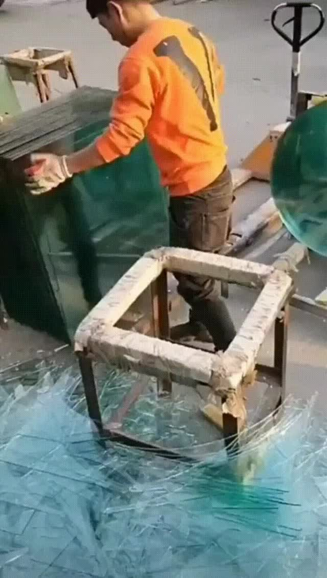 Watch and share Cutting Glass GIFs on Gfycat