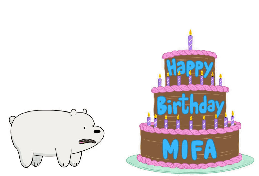 all, bare, bday, bears, bff, birthday, blow, cake, candles, cartoon, funny, happy, happy birthday, jump, lol, mifa, network, together, we, wish, Happy birthday Mifa GIFs