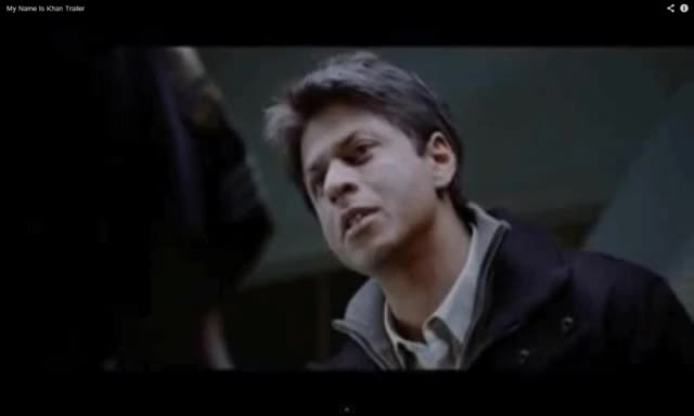 Watch and share My Name Is Khan Shahrukh Khan Gif GIFs on Gfycat
