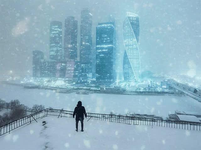 PsBattle: A snowy Moscow : photoshopbattles GIFs