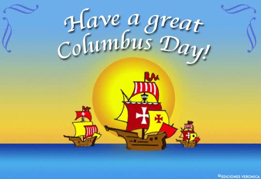 Watch and share 40. Best Wishes Columbus Day Clip-art Wishes Image GIFs on Gfycat