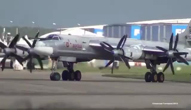 Watch and share Tupolev Tu-95MS Engine Start And Takeoff GIFs on Gfycat