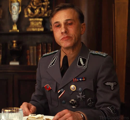 christoph waltz, eating, More:  GIFs