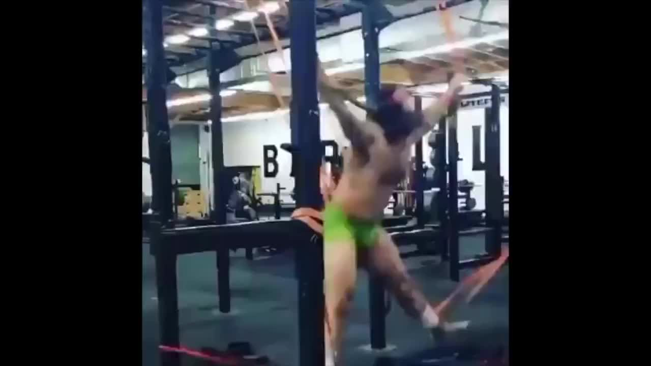 Hillarious, imovie, CrossFit Bungee Workout GIFs