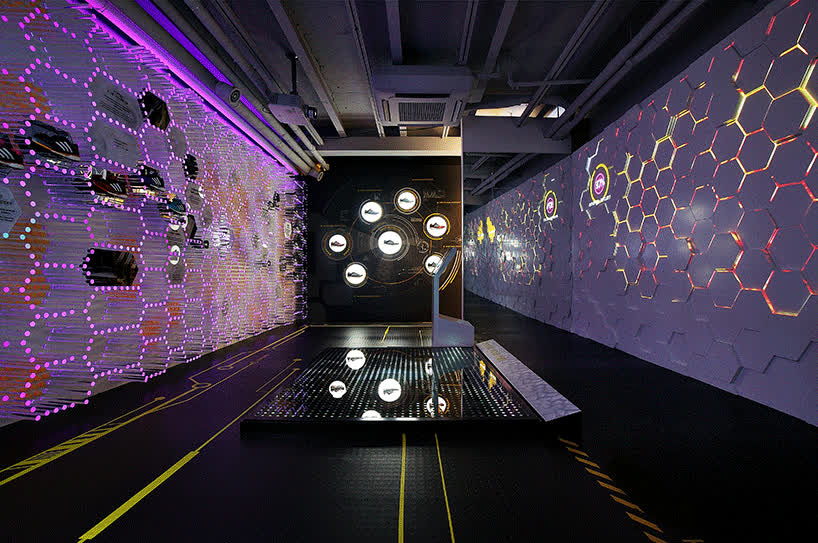 urbantainer lights up adidas flagship store with boost energy lab GIFs
