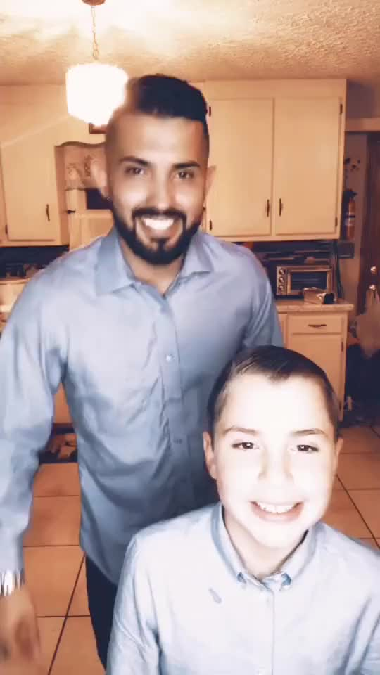 My nephew wanted to do this one with me ❤️ #family #thanksgiving #latinos #dancing #teamjaxion thanksgiving latinos family dancing GIF