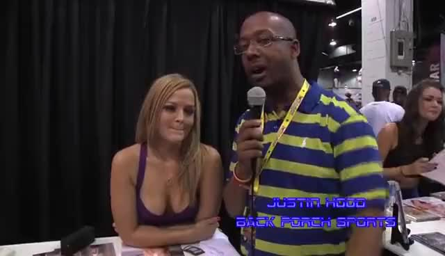 Watch and share J.Hood Interviews Alexis Texas At Exxxotica Chicago 2013 GIFs on Gfycat