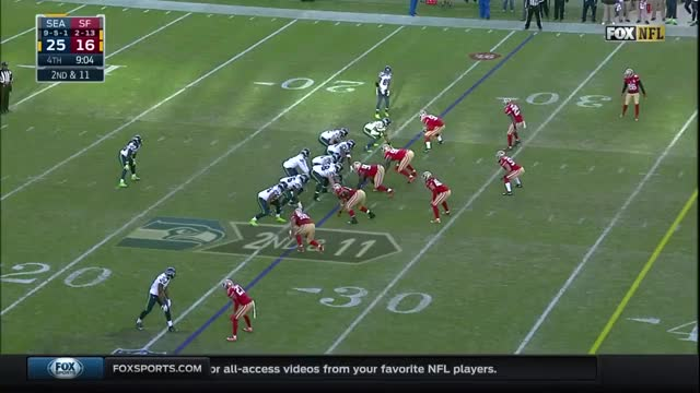 Russel Wilson botched snap.