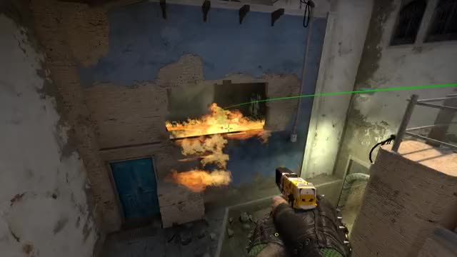 Watch and share Csgo Mirage Molotov Window From Mid GIFs by CSGOGrenadies on Gfycat