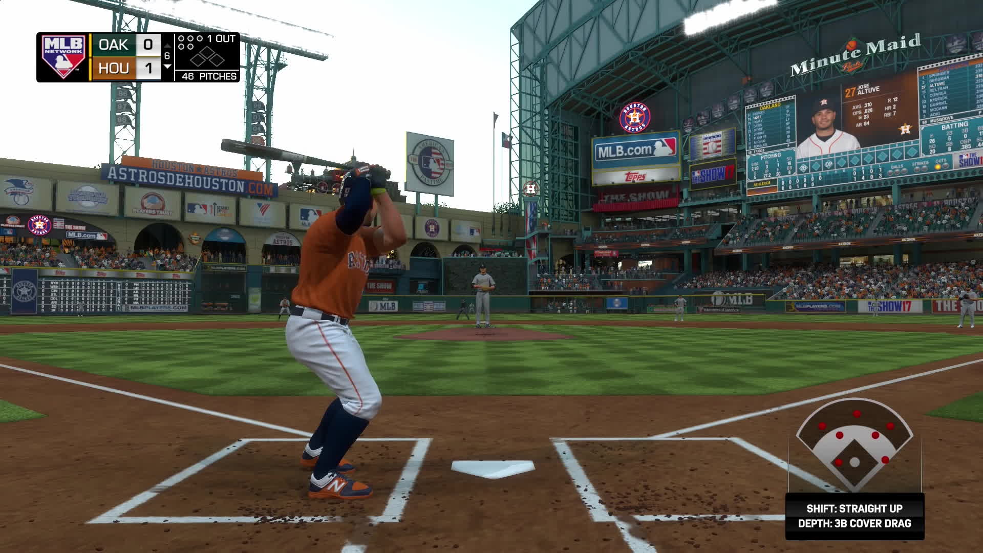 astros, h-town, houston, MLB The Show 17 - Athletics vs Astros GIFs