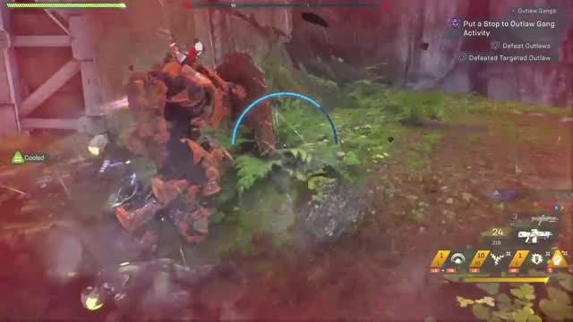 Watch and share Anthem Outlaw Leg Gunner GIFs by tokimori on Gfycat