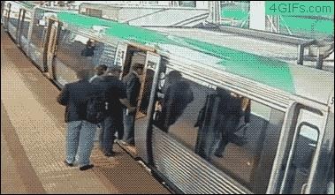 traingifs, Man has leg stuck on a train, dozens come to his aid (reddit) GIFs