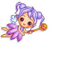 Watch and share Fairy Animated Faery Fee Hada Fata Alphabet Gif animated stickers on Gfycat