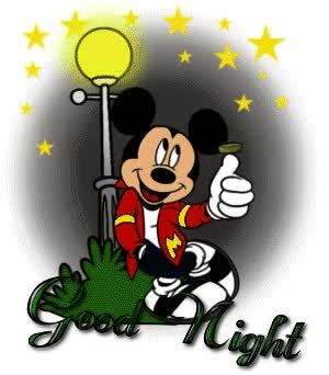 Watch and share Mickey Evening Good Night GIFs on Gfycat