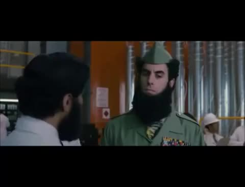 The Dictator - Opening Scene (2012) Sacha Baron Cohen Movie HD GIF