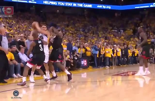 Watch and share Klay Thompson Looks To Have Stepped Out Of Bounds (2) GIFs by MarcusD on Gfycat