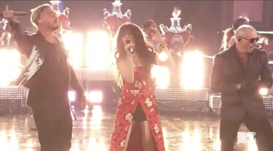 Camila Cabello, J Balvin, MTV Awards, MTVAwards, dale, dance, pittbull, Pitbull Mr. World Wide got moves GIFs