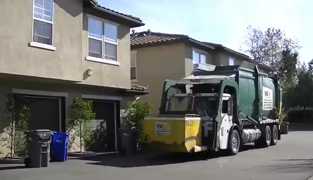 Watch and share Wittke Front Load Garbage Truck W/ Curotto Can - Garbage Collection GIFs on Gfycat