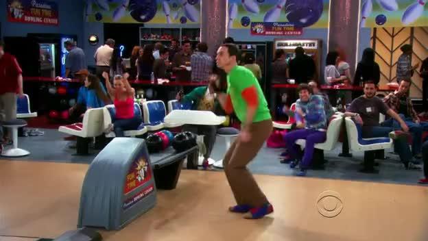 Big Bang Theory, Sheldon Cooper, Sheldon Bowling Jump GIFs