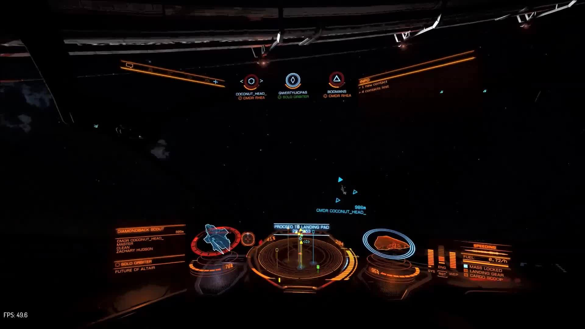 EliteDangerous, eliteracers, Diamondback Scout looping around the ring at Track Day (reddit) GIFs