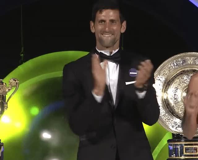 Watch and share Novak Djokovic GIFs and Applause GIFs on Gfycat