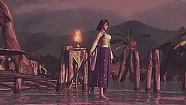 Watch this GIF on Gfycat. Discover more FF10, FF10 HD Remaster, FFX, FFX HD Remaster, Final Fantasy X, Final Fantasy X HD Remaster, Kilika Island, Kimahri, Lulu, The Sending, Tidus, Yuna, lightsan's edits, lightsan's gifs GIFs on Gfycat