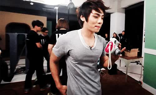Watch and share Jonghyun's Nipples Are Rock Music. So Hard You Can See It Through His Shirt. GIFs on Gfycat