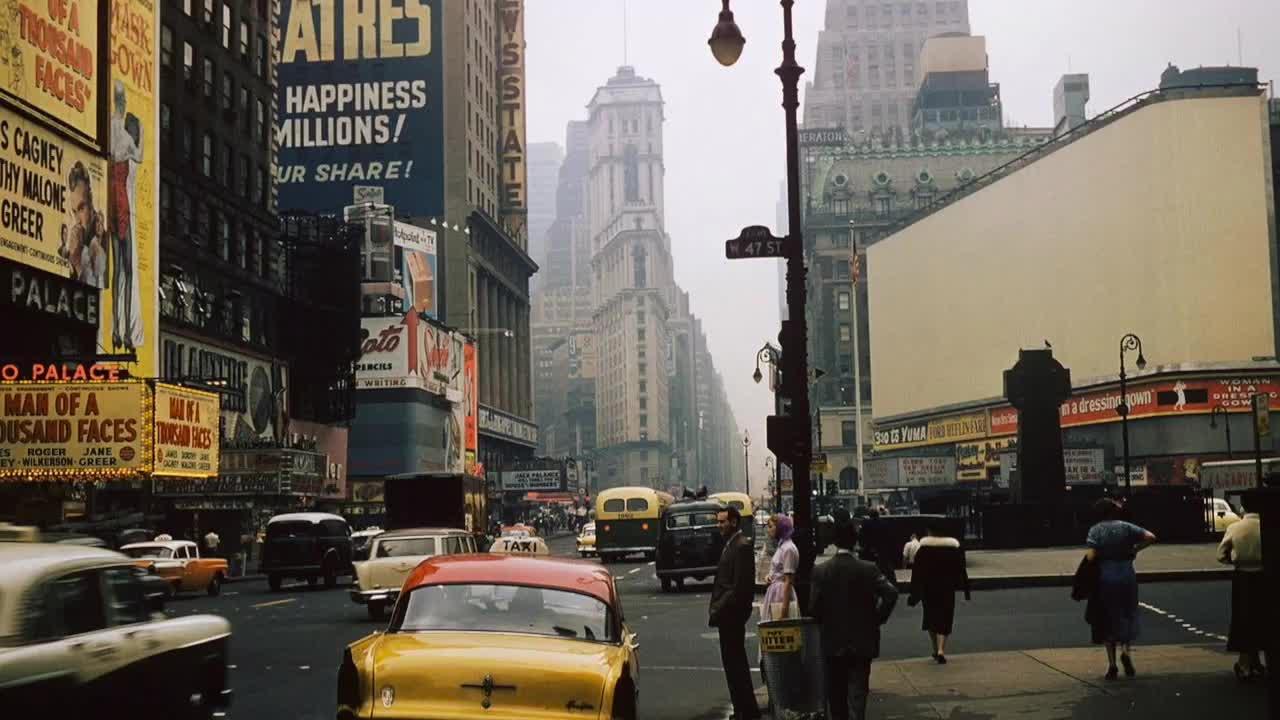 OldSchoolCool, nycpics, Times Square, 1957 (reddit) GIFs