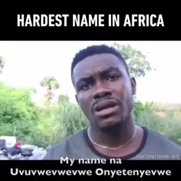 Watch and share Funny Video Uvuvwevwevwe Onyetenyevwe Ugwem Ubwem Osas GIFs on Gfycat
