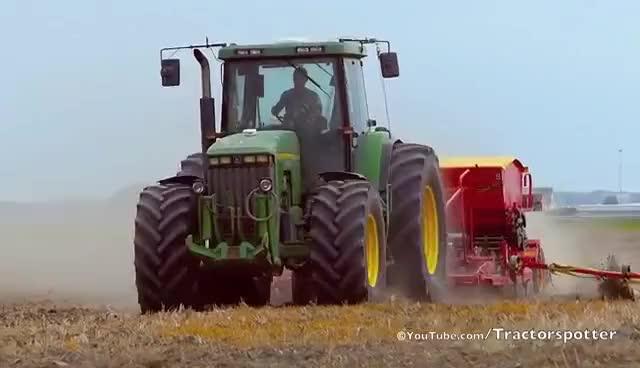 Watch and share John Deere 8400 + Vaderstad Rapid 300C SuperXL - Drilling Wheat - Nieuwenhuis Boesingheliede GIFs on Gfycat