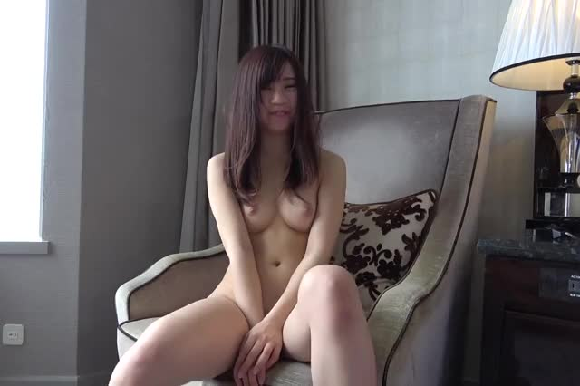 shy Japanese playgirl showing her cookie