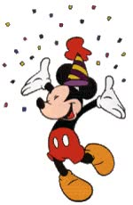 Watch and share Disney Mickey Mouse Dancing Happy Birthday Emoticon Emoticons Animated Animation Animations Gif GIFs on Gfycat