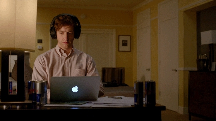 coding, expressions, headphones, highqualitygifs, programmerhumor, programming, sayings, silicon valley, thomas middleditch, Silicon Valley - In the zone GIFs