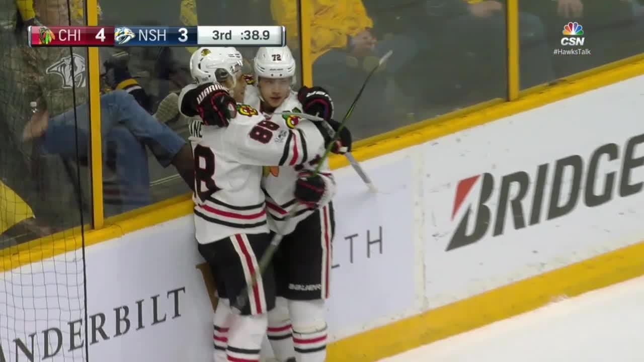 hawks, hockey, Kane and Panarin GIFs