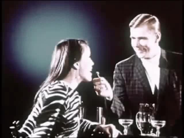Watch Drinks: Via Match your Mood (1960s) Gif: Marc Rodriguez GIF by Marc Rodriguez (@marcrodriguez) on Gfycat. Discover more cocktails, date, date night, drinks, film, glass, happy new year, olive, retro gif, vintage, want a drink GIFs on Gfycat