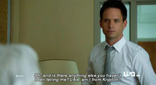 Watch Suits - She Knows (S02E01) GIF on Gfycat. Discover more patrick j adams GIFs on Gfycat