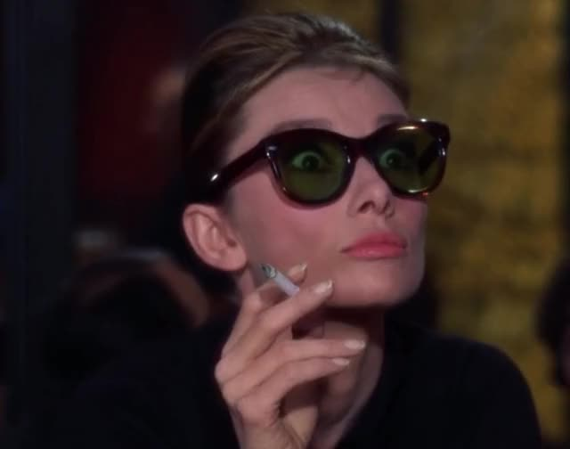 Watch and share Audrey Hepburn GIFs and Sunglasses GIFs by Reactions on Gfycat
