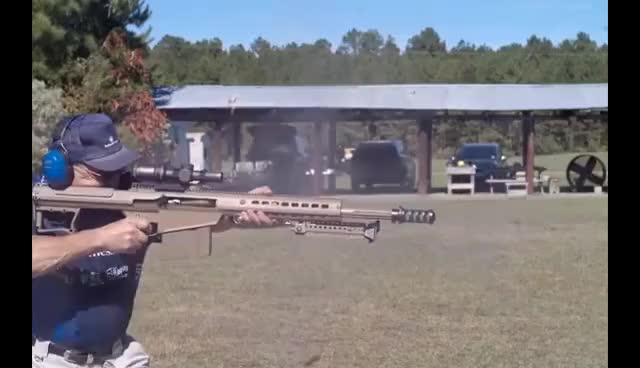 Watch and share NEW BARRETT .50 CAL WORLD RECORD- 6 SHOTS In UNDER 1 SECOND On HIGH SPEED! Jerry Miculek HD GIFs on Gfycat