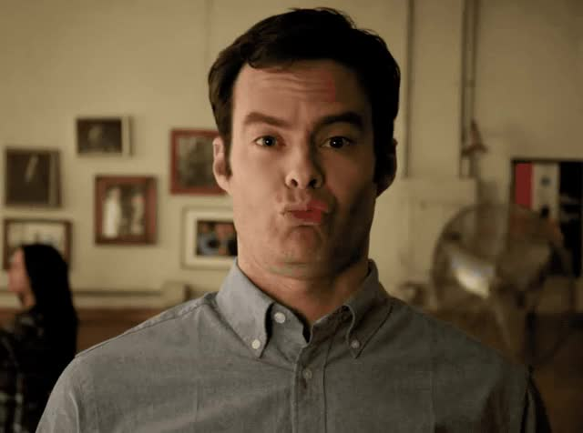 Watch this bill hader GIF by GIF Queen (@ioanna) on Gfycat. Discover more a, awkward, barry, bill, bill hader, calling, fake, funny, hader, hbo, laugh, lol, new, smile, snl GIFs on Gfycat