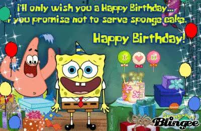 Watch and share Spongebob Happy Bday GIFs on Gfycat