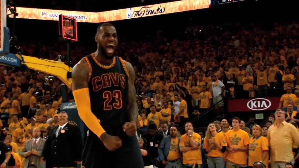 SuperSaiyanGifs, nba, Lebron James after winning Game 2 of the NBA Finals GIFs