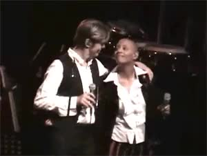 Watch FAME GIF on Gfycat. Discover more 2002, David Bowie, Gail Ann Dorsey, absolute beginners, gif, gifs, my gifs, their friendship gives me life GIFs on Gfycat