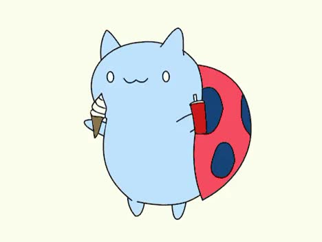 Watch and share Ice Cream Soda Day GIFs and Catbug GIFs on Gfycat