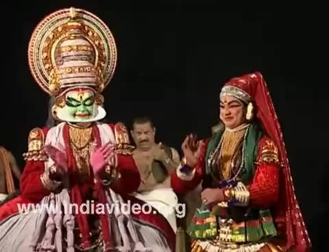 Watch and share Kathakali Performance - Onam Video Greetings - Kerala GIFs on Gfycat